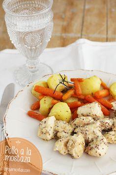 Pollo a la mostaza, una receta de pollo riquísima Diet Recipes, Healthy Recipes, International Recipes, Eating Well, Bon Appetit, Potato Salad, Tapas, Food And Drink, Turkey