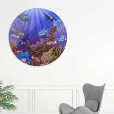 Discover «Coral Reef», Exclusive Edition Disk Print by Ruta Dumalakaite - From $59 - Curioos