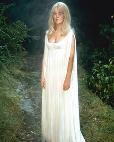 Danish actress Yutte Stensgaard as she appears in the Hammer horror film 'Lust for a Vampire' 1971