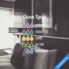 Blend Recipe: 3 drops Lavender, 3 drops Eucalyptus, 3 drops Lemon, 3 drops Tea Tree, 2 drops Peppermint