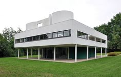 "Le Corbusier, Villa Savoye, Poissy, France, 1929. ""The house is a box in the air,...""          —Le Corbusier, Précisions"
