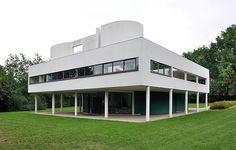 "Le Corbusier, Villa Savoye, Poissy, France, 1929. ""The house is a box in the air,...""          —Le Corbusier, Précisions"