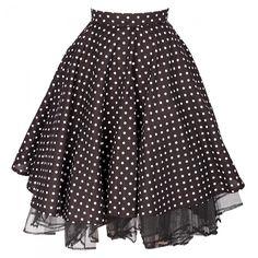 Cheeky Black Polka Dot Skirt