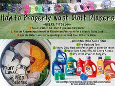 How to properly wash cloth diapers - Fluff Love & CD Science. THIS IS WHERE YOU WANT TO GO IF YOU ARE THINKING OF USING CLOTH DIAPERS