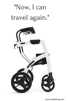 Converts from a rollator walker to a transport chair in under a minute without tools. Perfect for all your adventures. Transport Wheelchair, Transport Chair, Cool Walking Canes, Handicap Accessible Home, Mobility Aids, Aging In Place, Buy Chair, Gadgets And Gizmos