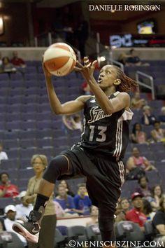 WNBA 2012: Danielle Robinson of the Silver Stars. San Antonio 78, Washington 73 #wnba #basketball #daniellerobinson Source: Meniscus Magazine
