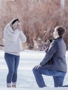 We couldn't be happier for our newest #ddfamilyalbum members, Danielle + Tyler. They had such a beautiful winter proposal, and have such a wonderful journey ahead of them. #winterproposal #shesaidyes #ido #proposal Winter Proposal, Perfect Proposal, Best Engagement Rings, Family Album, Proposals, Winter Jackets, Journey, Celebrities, Beautiful