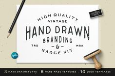 Hand Drawn Branding & Badge Kit by James Lafuente on Creative Market