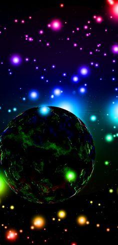 /Étoiles du Nuage Magellan Et Motif de lunivers Cosmique Fantastique Et Color/é ABAKUHAUS Galaxie Tapisserie Orange 230 x 140 cm Lavable sans d/écoloration des Couleurs