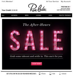 Sale in lights