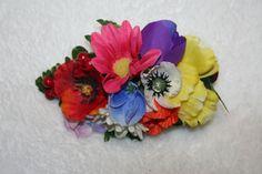 Multi-flower Hair Clip  Ukrainian Theme Hair by BeautyFullMall