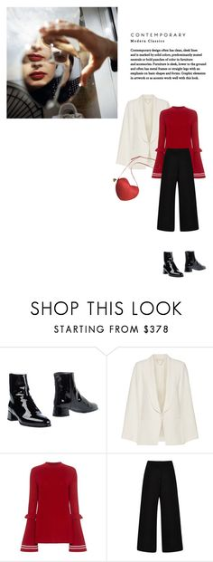 """""""Untitled #856"""" by duoduo800800 ❤ liked on Polyvore featuring Stuart Weitzman, Vanessa Bruno and Rosie Assoulin"""