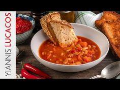 Φασολάδα | Yiannis Lucacos - YouTube Greek Recipes, Chana Masala, Stew, Cooking Recipes, Ethnic Recipes, Curries, Soups, Food, Youtube