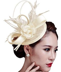 Sinamay Fascinator Hat Feather Party Pillbox Hat Flower D... https://www.amazon.com/dp/B018LDDE64/ref=cm_sw_r_pi_dp_x_bUvfzbBVYYGRH