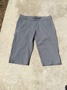 PRANA Grey Slate Size 10 Capris Short Pants Nylon Spandex Free Priority SHIP | eBay