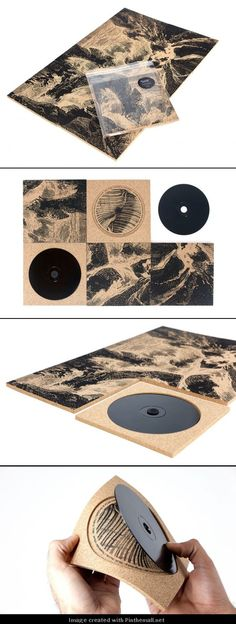 Wall to Wall Carpeting's album (Piliad Echons) artwork is based on the title of the band. It has lead the designers at Bend to experiment with basic insulating materials such as cork.: