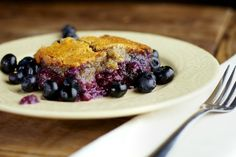 Healthy Blueberry Cobbler