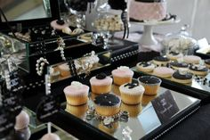 coco-chanel-inspired-birthday-party-vanilla-cupcakes-glam-sparkle