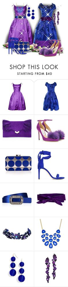 """""""Purple and Blue Shoes Contest, """"Mix It Up!""""...by fowlerteetee"""" by fowlerteetee ❤ liked on Polyvore featuring Jimmy Choo, Manolo Blahnik, Stuart Weitzman, Roger Vivier, Maurizio Pecoraro, Christian Lacroix, Charter Club, BaubleBar and Plukka"""