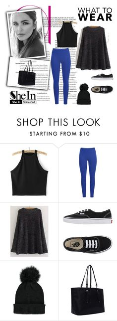"""""""Black Round Sweater"""" by nermina-okanovic ❤ liked on Polyvore featuring Black Diamond, Vans, Forever 21 and shein"""