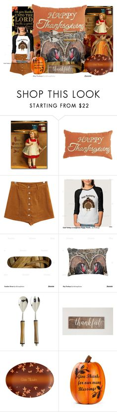 """""""Happy Thanksgiving Day"""" by deluxephotos ❤ liked on Polyvore featuring interior, interiors, interior design, home, home decor, interior decorating, WALL, Chicnova Fashion and Pier 1 Imports"""