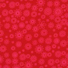 Jersey Flower Ella 2 - raspberry - Red - Jersey Flowers - Children's Fabrics Girls - myfabrics.co.uk
