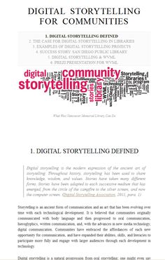 essay of story telling