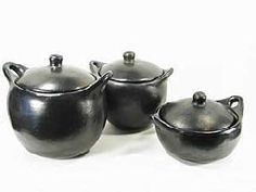 chamba ceramica - para azucar Bowl Set, Kitchenware, Miniatures, Pottery, Google, Black, Pots, Mud, Vases