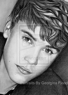 Justin Bieber by georginaflood Justin Bieber Sketch, Justin Bieber Shoes, Justin Bieber Pictures, Pop Star Party, Selena And Taylor, Bae, Celebrity Portraits, Cool Sketches, Beautiful Drawings