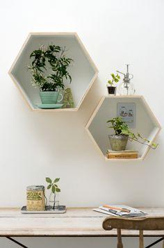 home: kastjes of deze vorm op muur verven en dan iets opplakken of inzetten!
