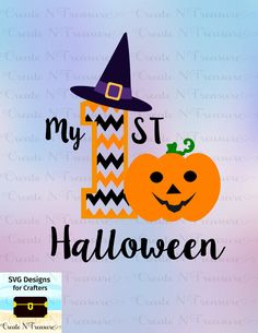 babys first halloween svg cutting file for silhouette cameo and cricut design space baby - Design Halloween