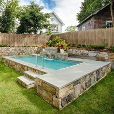 34 meilleures images du tableau piscine semi enterree en - Amenagement piscine semi enterree ...