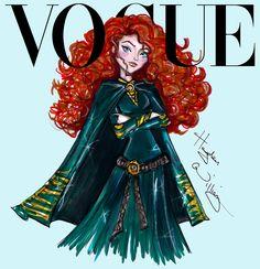 Hayden Williams Fashion Illustrations   Disney Divas for Vogue by Hayden Williams: Merida