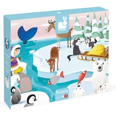 "The Janod Giant Tactile Puzzle ""Life On The Ice"" is a puzzle to create a scene featuring 7 types of arctic animals in their habitats. Money Games For Kids, Puzzle Games For Kids, Puzzles For Kids, Gifts For Kids, Polo Norte, Animal Puzzle, Arctic Animals, Baby Games, Siberian Huskies"