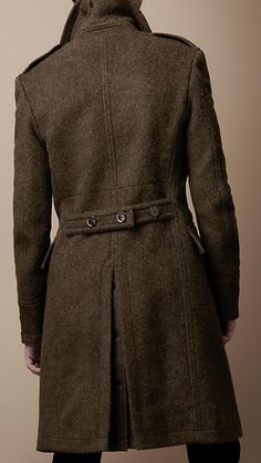Wool Blend Military Greatcoat | Burberry