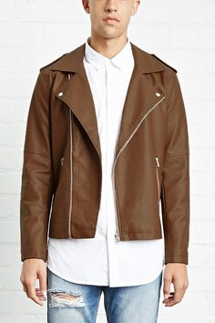 FOREVER 21+ Faux Leather Moto Jacket