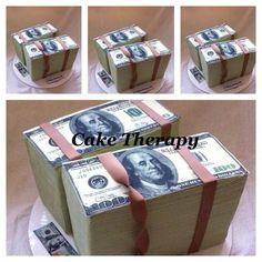 Money money cake Bachelor Cake, Passport Online, Money Cake, Beautiful Cupcakes, Mini Cakes, Cup Cakes, Money Affirmations, Dream Cake, Make More Money