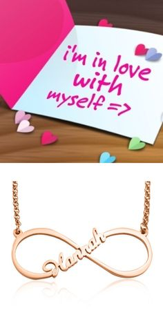 https://www.neatie.com/Personalised-Jewellery/Personalized-Single-Infinity-Name-Necklace-Rose-Gold  Your name is your story... imagine being able to have your very own personalised piece of jewellery hand cut to have your name worn proudly in the shape of the infinity, it's your own name created just for you. Your story. Your #Single #Infinity #Name #Necklace