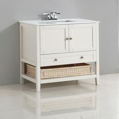 Cape Cod Soft White Bath Vanity