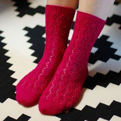 The Björk socks pattern includes both written and charted instructions.