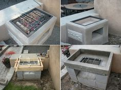 Do-it-yourself Grill Project For Your Backyard Architecture & Design: DIY Grill Venture For Your Garden He barbecue grill is always great choice for yo Outdoor Oven, Outdoor Cooking, Outdoor Barbeque, Grill Diy, Bbq Diy, Cement House, Diy House Projects, Fire Pit Backyard, Sorrento