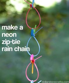 If you've admired rain chains, but balked at the cost, here's a simple one to make super-cheap, from Dollar Store Crafts.