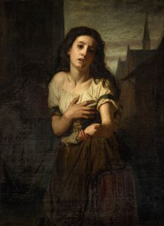 Giclee Print: Une mendiante Art Print by Hugues Merle by Hugues Merle : Merle, William Adolphe Bouguereau, Image Painting, Painting Art, Academic Art, City Museum, Madonna And Child, Children Images, Art Graphique