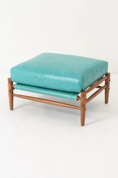 Rhys Ottoman, Carribean Blue - eclectic - ottomans and cubes - Anthropologie Unique Furniture, Accent Furniture, Home Furniture, Furniture Design, Funky Furniture, Contemporary Furniture, Blue Ottoman, My Living Room, Banquettes