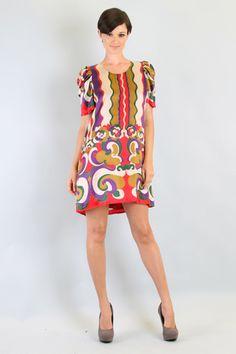Silk Short Sleeve Dress