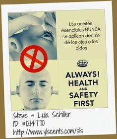 SERIE SEGURIDAD!  nunca aplicar los Aceites esenciales dentro de los ojos y oidos!!! Puedes aplicarlos alrededor!