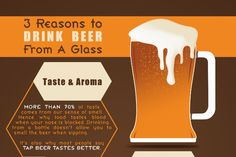 Infographic: Top 3 Reasons to Drink Beer From a Glass - Foodista.com