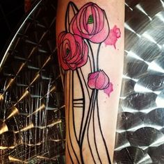 These Mackintosh-inspired roses. | 24 Unusual, Subtle, And Beautiful Scottish Tattoos