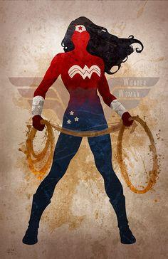 Original Giclee Art Print 'Wonder Woman' by DigitalTheory on Etsy