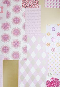 Wallpaper romantic style